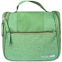 大容量化粧品バッグ防水性防湿性かわいいホームトラベルポータブル化粧品収納袋22 * 12 * 20cm (色 : Green)
