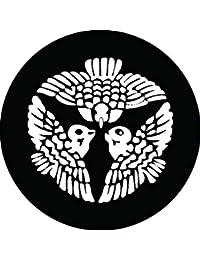 家紋シール 坊城雀紋 布タイプ 直径40mm 6枚セット NS4-2906