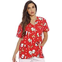 Just Love Women's Scrub Tops Holiday Scrubs Nursing Scrubs