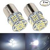 HooMoo 3014SMD(P21W 1156 S25 BA15S G18) LEDバルブ LEDライト 車用 LEDランプ 54連SMD シングル 汎用 変換 超高輝度 12V/24V ホワイト 6000-6500K 2個セット