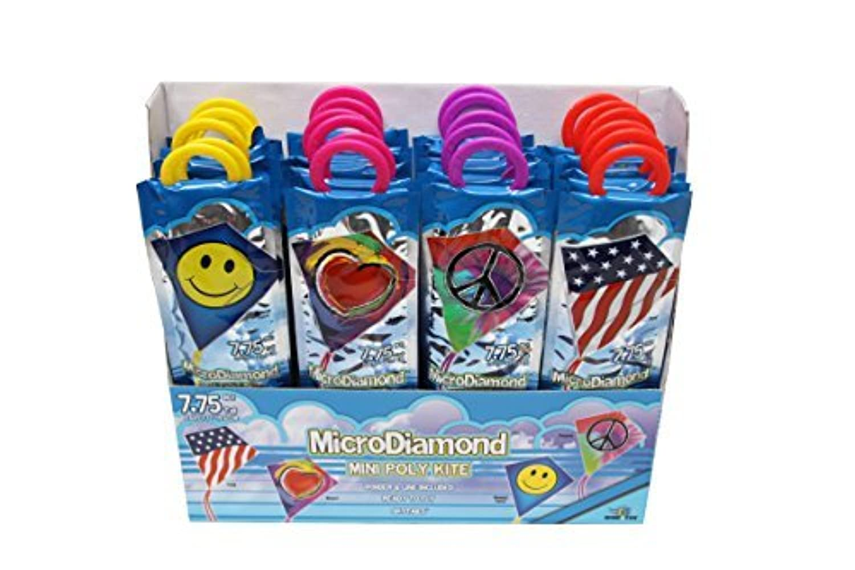 X-Kites Microdiamonds Poly Kite Nylon Assortment Pack (24-Pack), 11 by X-Kites [並行輸入品]