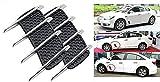 ShopXJ 車 バイク 通気口 ステッカー 外装 ダミー 排気 エア ダクト パーツ 貼るだけ 簡単 ドレスアップ 改造 フェンダーダクト カスタマイズ ビッグスクーター (A)