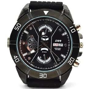Axvalue HD高画質 暗視撮影機能搭載 高級腕時計型 ハイビジョンビデオ&カメラ microSD/SDHC対応 高解像度1600×1200