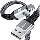 BrexLink USB Certified Type C Cable, USB C to USB A Charger (6.6ft, 2 Pack), Nylon Braided Fast Charging Cord for Samsung Gal