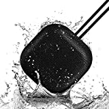 OMThing Portable Bluetooth Speakers IPX7 Waterproof Speaker, HD Sound, 12H Playtime, Built-in Speakerphone, Perfect for Bathroom, Easy Pairing for Home/Travel/Play/Sport - Black
