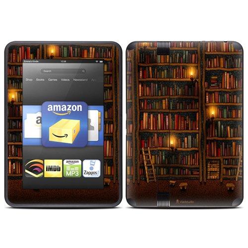 DecalGirl スキンシール Kindle Fire HD(2012年モデル)専用スキン - Library