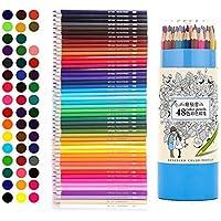 色鉛筆 48色セット油性色鉛筆 48色鉛筆 塗り絵 スケッチ用 アート鉛筆 プレゼント用  秘密花園の本に適用色鉛筆