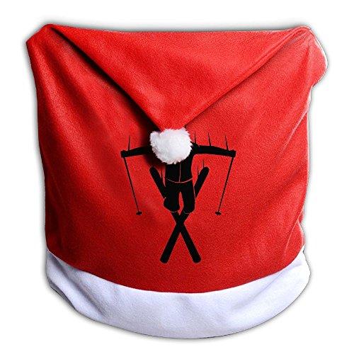 クリスマス 座椅子カバー 背部用 雪崩 スキーヤー スキー ...
