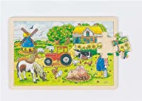 Goki Wooden M?ller's Farm Puzzle (24 Piece) [並行輸入品]