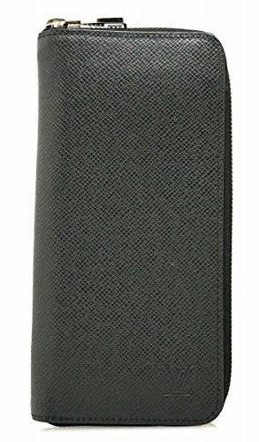 [ルイ ヴィトン] LOUIS VUITTON タイガ ジッピーウォレット ヴェルティカル ラウンドファスナー 長財布 レザー アルドワーズ 黒 ブラック M32822 [中古]
