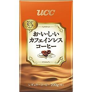UCC おいしいカフェインレスコーヒー コーヒー 豆(粉) VP200g