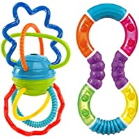 Oball Clickity Twist Toy with Figure 8 Teether by Babyhaven Bundle