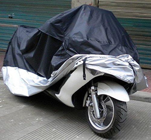 ツートン オートバイ カバー 防水 防塵 UV カット 処理 小型 バイクカバー 大型 スクータ の 防犯 対策 に サイズ 選べます(XXXXL)