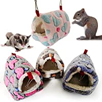 hamulekfae-ハムスターリス暖かい家モルモット巣小動物ペットベッド寝袋 - パープルS