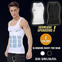 Mens Slimming Body Slim Shaper Underwear Corset Compression Belt Singlet Dad BOD White-Vest XL