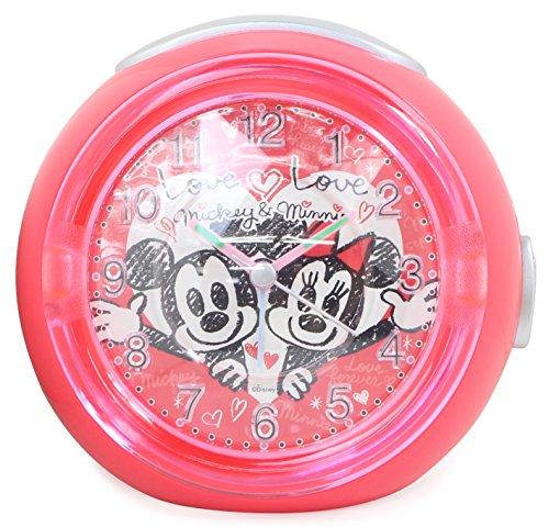 ディズニー 目覚まし時計 LEDクロック アナログ ミッキーマウス ミニーマウス