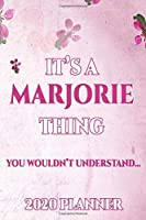 MARJORIE: Personalised Name Planner 2020 Gift For Women & Girls 100 Pages (Pink Floral Design) 2020 Weekly Planner Monthly Planner