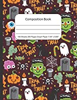 Composition Book Graph Paper, Halloween: Quad Rule (4x4) Graph Paper, Four Squares per Inch Journal Notebook for Math, Science, School, Home or Work