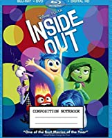 Composition Notebook: Inside Out Cute Animated Cartoon Emotions, Joy, Sadness, Anger, Disgust, and Fear Wide Ruled Lined Composition Notebook, Journal, Diary • 7.5 x 9.25 Inches 110 Pages