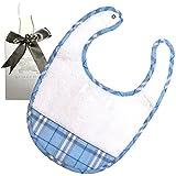 BURBERRY BURBERRY BABY スタイ 新生児 赤ちゃん ブルー 乳児服 よだれかけ ブランド 出産祝い バーバリー チルドレン ギフト ショップ袋付