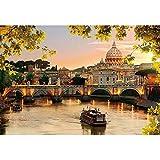 300ピース ジグソーパズル 夕映えのサン・ピエトロ大聖堂 (26x38cm)