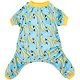 CuteBone Hotsale Banana Dog Pajamas Soft Polyester Pet Clothes Cute Puppy Apparel Outdoor Jumpsuit