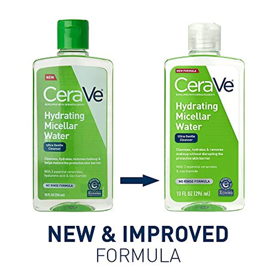 チョコレート透明にセンブランスセラビィ ジェントルクレンジングウォーター 10オンスCeraVe Hydrating Micellar Cleansing Water, Ultra Gentle Cleanser and Makeup Remover...