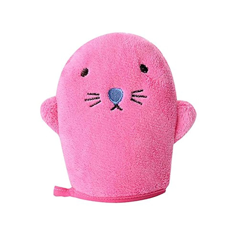 おとうさんレンジドラフトマテリアルセキュリティスポンジバスタオル製品ベビーバススポンジ、ピンク
