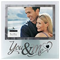 Malden International Designs Wedding You and Me Frosted and Mirrored Glass Picture Frame, 4x6, Clear by Malden International Designs