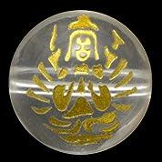 【石流通センター】【彫刻ビーズ】水晶 10mm (金彫り) 八大観音「千手観音」 天然石 パワーストーン