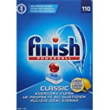 4 x FINISH PK110 POWERBALL DISHWASHING TABLETS CLASSIC LEMON SPARKLE