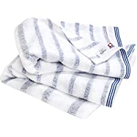 hiorie 今治毛巾认证 Mist 喷雾浴巾2件套日本制造透かし織条纹今治品牌