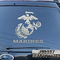 USMC United States Marine Corps海兵隊イーグルGlobeアンカー車トラックデカールステッカービニールDie Cut No背景Pickカラーサイズ 12'' (30.5cm) ブラック 20171102s5