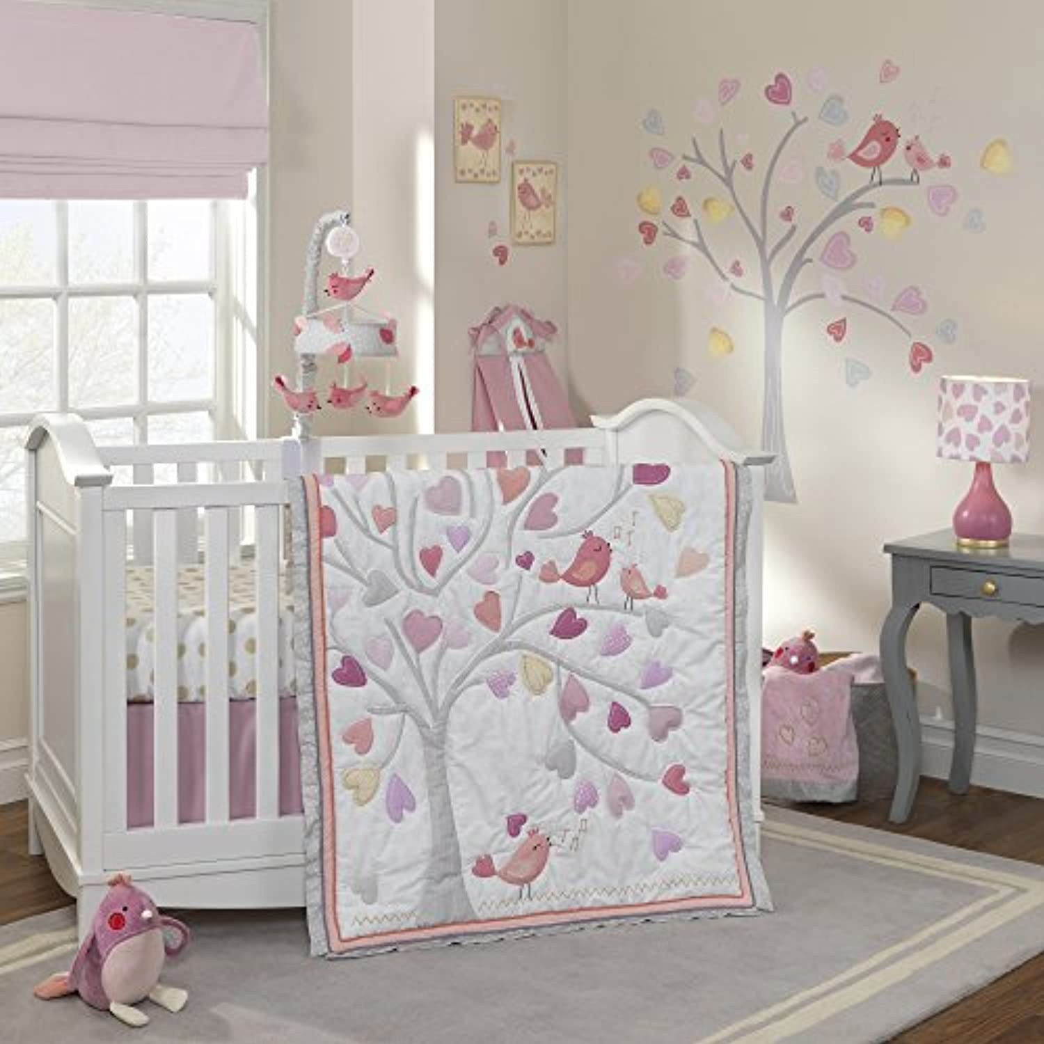 Lambs & Ivy Love Song 4-Piece Crib Bedding Set by Lambs & Ivy