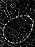 カレン族シルバー ブレスレット ガーネット 深紅の輝き、神秘の結晶。 メンズ / レディース a06-35