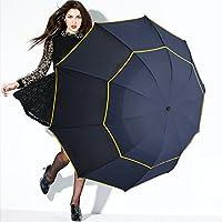 Moontay 傘 かさ 雨傘 大型 高品質 暴風対応 強風 撥水 風に強い   丈夫 雪 メンズ レディース  130cm  (ブルー)