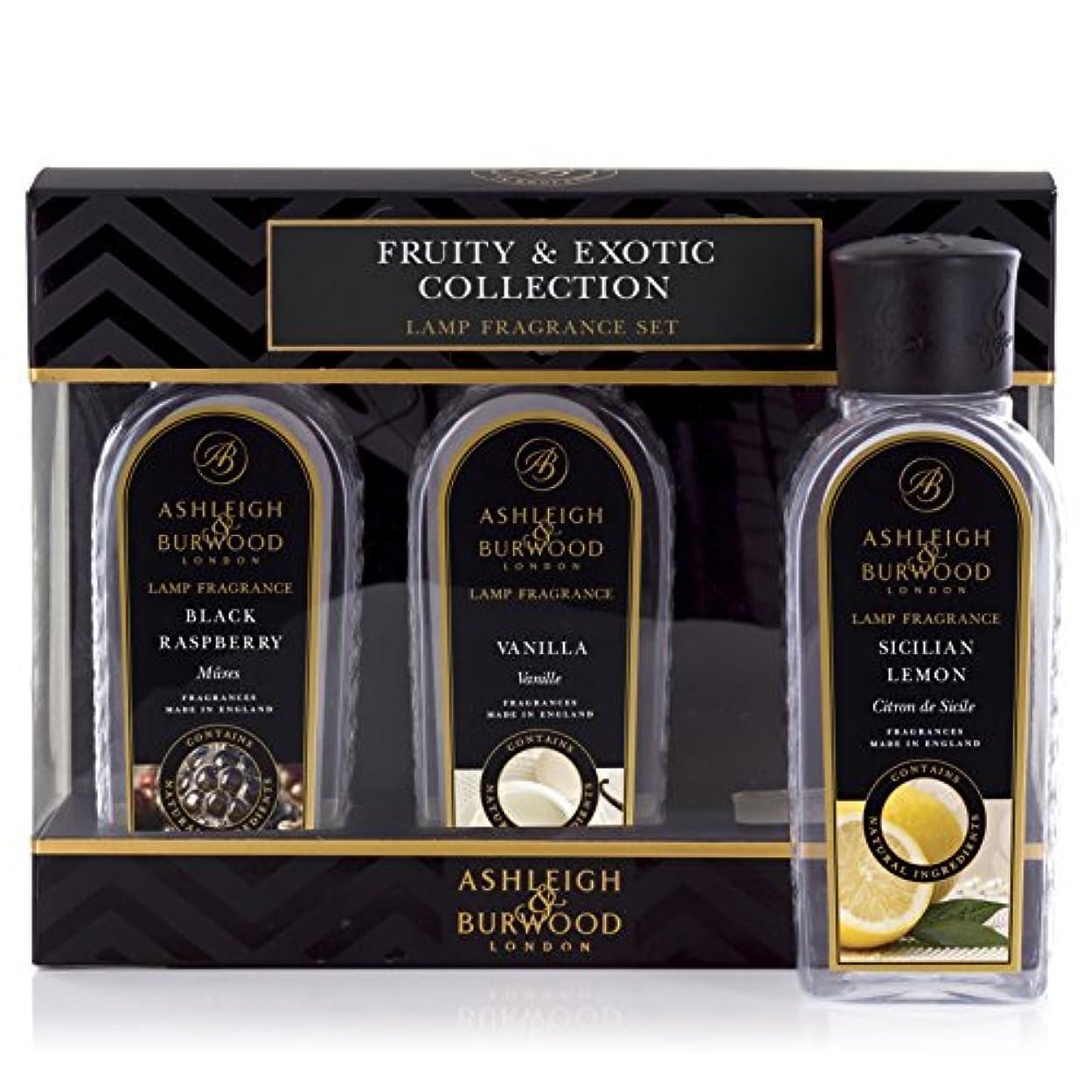 パラメータバスシールドAshleigh&Burwood ランプフレグランス フルーティー&エキゾチック3本セット Lamp Fragrances Fruity&Exotic アシュレイ&バーウッド