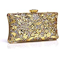 Women Evening Handbags Clutches Purse for Party Bridal Tote Bags Birthday Gift for her,Gold,5 * 9.5 * 19cm