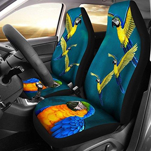 ルリコンゴウインコParrot印刷車シートカバー Universal Fit