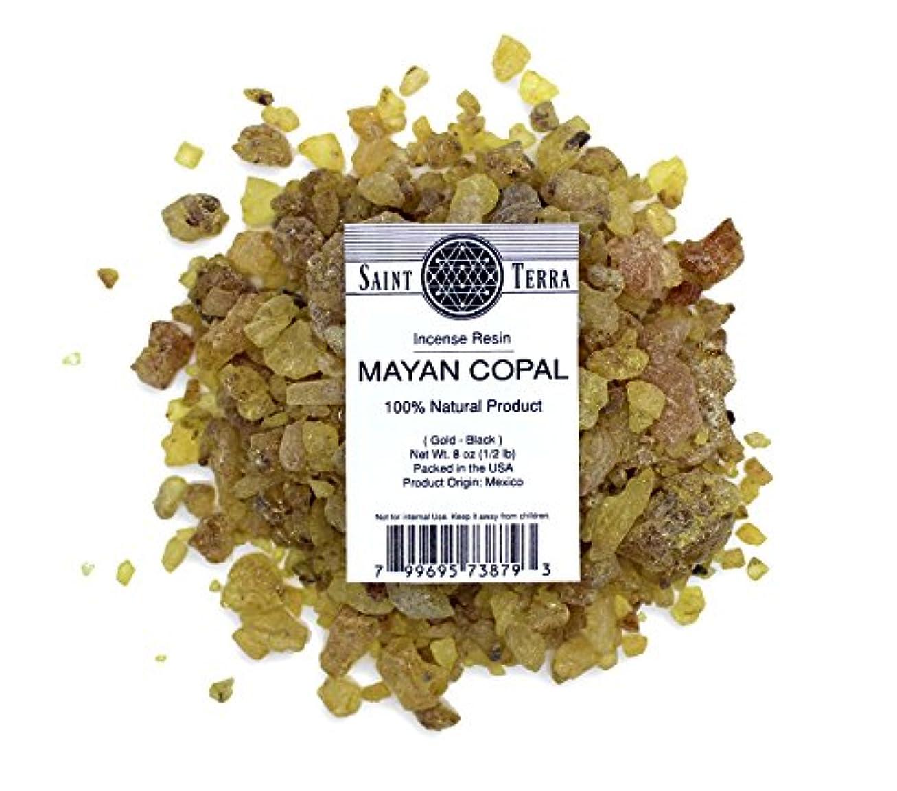 肘掛け椅子食べる講堂Saint Terra – マヤCopal樹脂Incense gold-black 8 oz ( 1 / 2lb ) – 100 % Natural