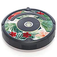 iRobot ルンバ Roomba 専用スキンシール ステッカー 527 530 537 560 577 620 621 622 630 650 対応 ハイビスカス 花 植物 012034