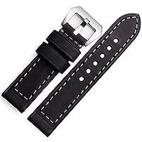 ドットタウン 腕時計レザーベルト パネライ タイプ 4サイズ LB033-BK22 ブラック(黒) 22mm [並行輸入品]