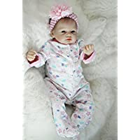 New Edition 22 Inch Reborn Baby Doll Girl Realistic Silicone Babies Toy Newborn Lifelike Babies With Curved Mohair Kids