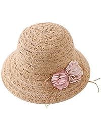 ガールズ子供夏Wide Brim Floppyビーチサンバイザー麦わら帽子親子キャップ