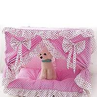 LilyAngel ペット用品ペット巣犬ベッド猫用トイレ (色 : ピンク, サイズ : S)