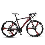 550XC VTSP 自転車 700C ロードバイク シマノ 変速 アルミフレーム ディスクブレーキ サイクリング アウトドア プレゼント 通勤 通学(赤)