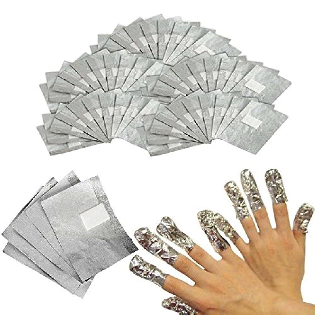 直立提案汗Elitlife 200枚セット アクリルUVジェル ネイルポリッシュをきれいにオフ コットン付きアルミホイル 素敵な在宅ゲル爪マニキュア用品