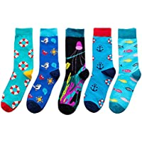 2 Pairs Socks Female Fruit Swimming Ring Socks Combed Cotton Male Socks in Tube Socks Comfortable Colorful Fancy Novelty Funny Patterned Casual Socks