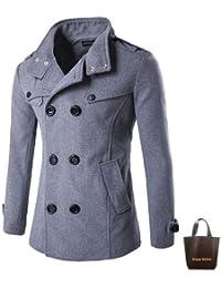 Pコート メンズ ブランド 黒 ジャケット コート ジャンパー