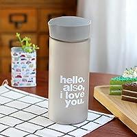 WZYDCB 手紙の水差しのふたのDrinkwareの屋外旅行が付いているプラスチック創造的なごしごし洗う器のびん